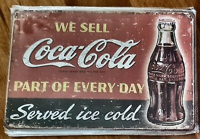 We Sell Coca-Cola Coke tin sign. Mancave Signs Aussie Seller