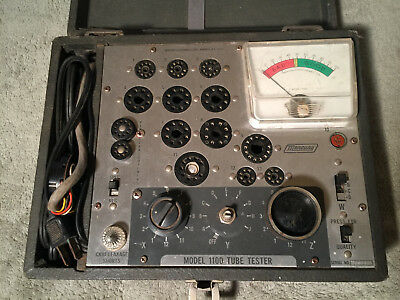 Vintage Mercury 1100 Vacuum Tube Tester Tested Working