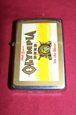 Old Olympia Beer Korea K Cigarette Lighter Vintage Ad Advertising Collectable