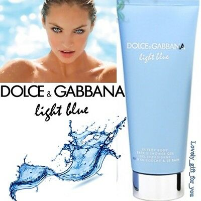 NEW Dolce & Gabbana Light Blue Energy Body Bath Shower Gel Women 100ml Unboxed