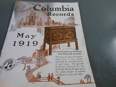 Columbia Records catalog May 1919