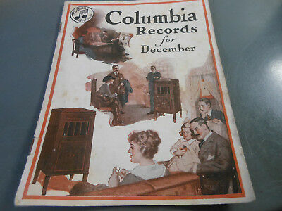 Columbia Records catalog for December 1918