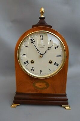 A Quality 8 Day Mahogany Bell Strike Regency Clock By Comitti London *serviced*