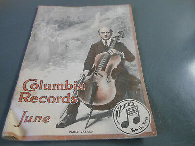 Columbia Records catalog June Featuring Pablo Casals on cover