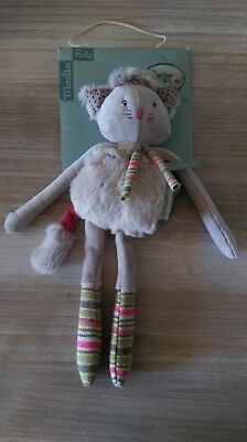 Hochet petit chat gris Moulin Roty