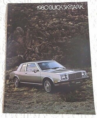 Vintage Original Auto Dealer Advertising Sales Brochure 1980 BUICK SKYLARK Car