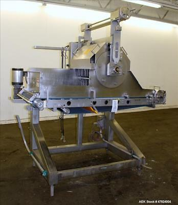 """Used- Waterfall Cheese/Applicator for Pizza, 304 Stainless Steel. Has 28"""" wide x"""