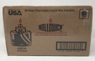 Hollowick HD36 36 hours Disposable Fuel Cell Pack of 24 (shelf E)
