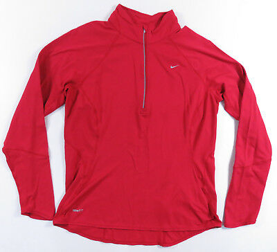 Nike Athletic Fit Dry Stretch Pullover Shirt Jacket Light Work Out Womens L
