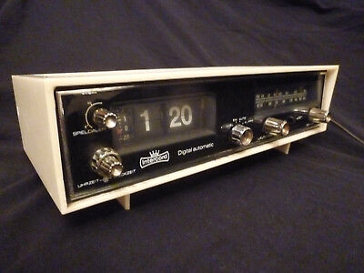 Klappzahlen Radiowecker Intercord digital automatic Radio Uhr flip Clock 70er