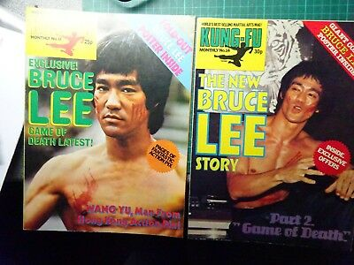 BRUCE LEE Kung Fu Monthly Magazines Numbers 13 & 14