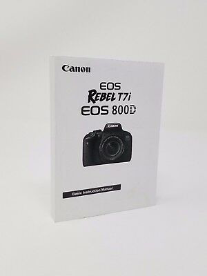 Canon Rebel T7i Genuine Instruction Owners Manual EOS 800D Book Original NEW