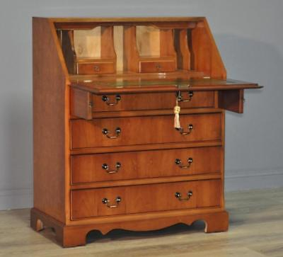 Attractive Large Vintage Cherrywood Writing Bureau Cabinet With Drawers