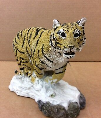 "Siberian Pouncing Tiger  7"" Wide by 5.5"" Tall  LIVING STONE *F*"
