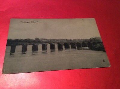 The Sangum Bridge, Poona, India Vintage Postcard (Tucks)