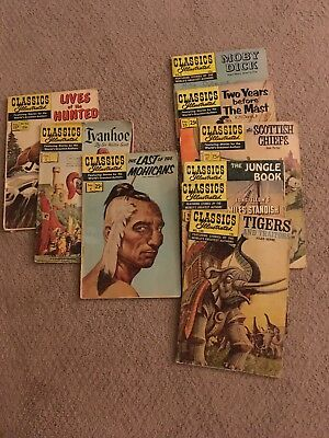 Original Vintage Classic Illustrated Comics See Discription