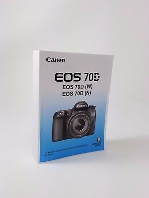 Canon EOS 70D Genuine Instruction Owners Manual 70D Book Original NEW