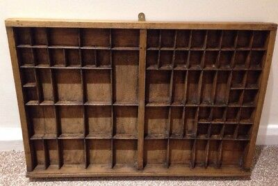 Antique Wooden Wall Hanging Display Unit For Curios Ex Type Set Tray