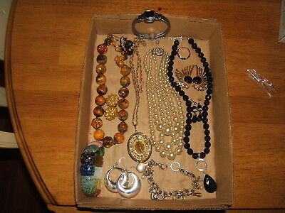 Large Lot Of Vintage Estate Costume Jewelry