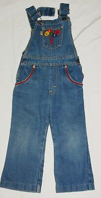 vintage childrens boys girls LEVIS denim dungarees jeans age 4 years