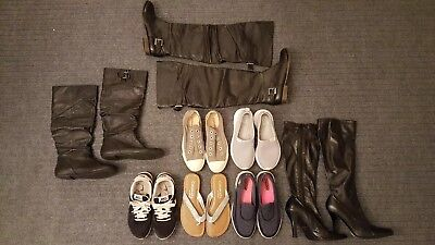 womens 6 shoes lot boots sneakers steve madden nike adidas sketchers converse