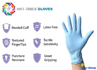 100 Nitrile Latex Gloves Powder Free Cleaning Disposable Heavy Duty Glove Lot