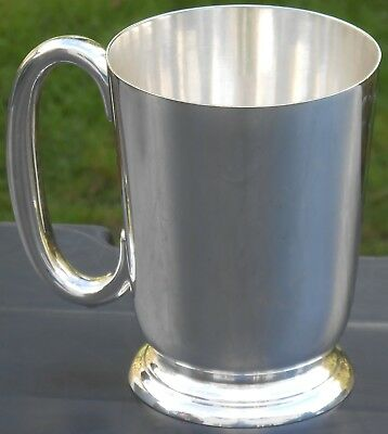 Walker & Hall Pint Tankard - Silver Plated - Vintage