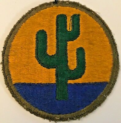 WWII United States ARMY 103RD INFANTRY DIVISION OD BORDER PATCH #4939