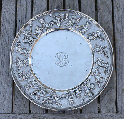 Antique Sterling Tiffany & Co. MAKERS children's themed plate