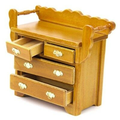 T8 1/12 Dollhouse Drawer Miniature Furniture for House Decoration with 4 movab V