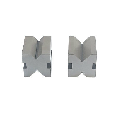 """One Pair 1"""" Precision V-Blocks 1 5/8"""" x 1 1/4"""" x 1 1/4"""" With Clamps Metal Vise"""