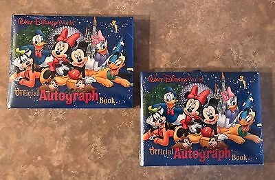 2 Walt Disney World Official  Autograph Books Sealed New NIP Mickey And Friends