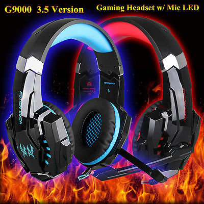 New EACH G9000 Wired Gaming Stereo Headset LED Lights Headphone Mic for Gamer US
