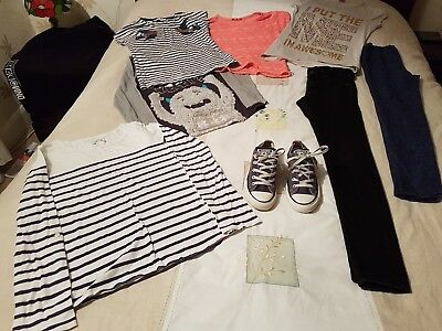 Girls Lovely Bundle of Clothes size 12-13yrs/ Converse Shoes/Trainers Size 4