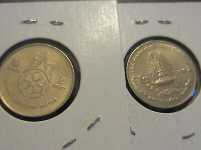 Mixed lot of 2 Thailand Coins, 2 Baht, US Buyers Only
