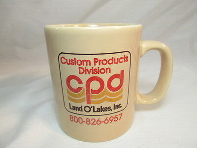 Vintage Land O Lakes CPD Coffee Mug Tea Cup Advertising Custom Products Division
