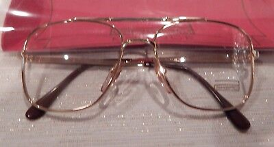 Vintage Girard 670 Gold White 52 Eye Men's Metal Eyeglass Frame NOS #237