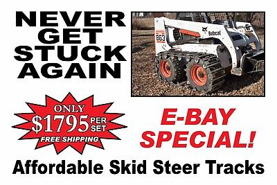 "OVER THE TIRE SKID STEER TRACKS (10"" or 12"")  Made in USA w/Free S/H Look here"
