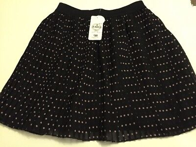 Girls Size 8 Black And Pink Skirt