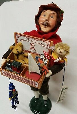 Signed Byers Choice caroler the cries of London Huntley & Palmers