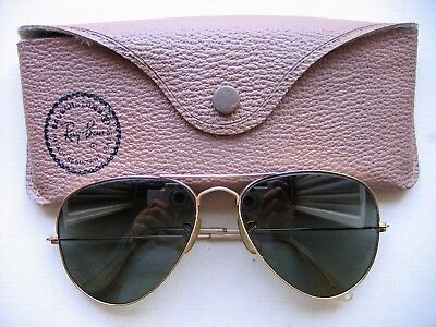 RAY - BAN AVIATOR , MODEL SQUARE TEMPLE, 12 K GOLD FILLED, 58 MM AGE '50s - '60s