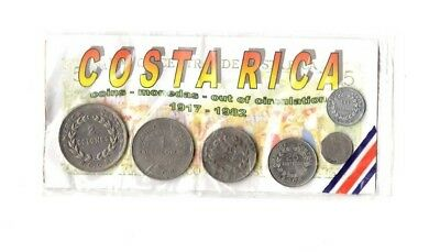 Costa Rica Currency Collection 1917-1982 Out Of Circulation