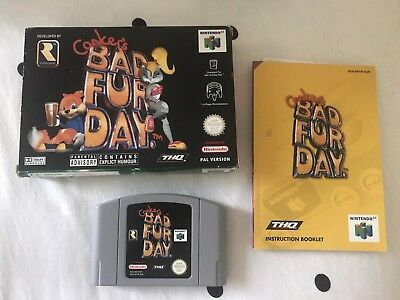 Conker's Bad Fur Day (Nintendo 64) Complete Rare Condition