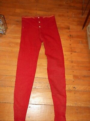 Vintage Red Wool Long Johns Men's AWESOME