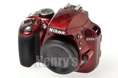Nikon D3300 24.2Mp Digital Slr Camera Body Red/used/$1