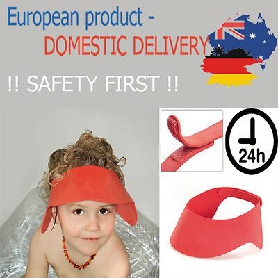 ADJUSTABLE SHAMPOO SHIELD Soft Bathing Shower Cap Hat Wash Hair Elastic Baby