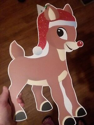 rudolph the red nosed reindeer wall hanging christmas decor 15 h nwt