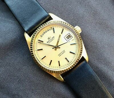 Vintage Baylor Automatic Certified Day-Date watch, Presidential-style
