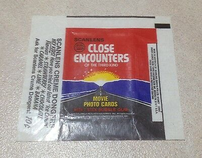 """1978 Scanlens """"Close Encounters of the Third Kind"""" - Wax Pack Wrapper"""