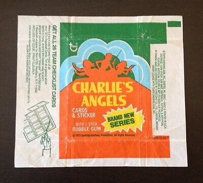 """1977 Topps """"Charlie's Angels - Series 4"""" - Wax Pack Wrapper"""